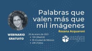 Webinario gratuito con Rosana Acquaroni
